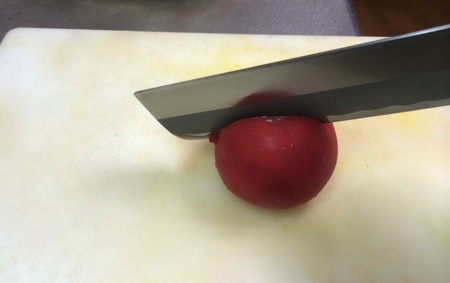 Sharpened knife