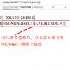 Excel関数で別シートのセルを指定する INDIRECT関数を使うと簡単に別シートのセルを指定することができます