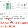 実務で使えるExcel入門セミナー ドロップダウンリストの幅の調整、オートフィルタの三角ボタンの非表示で、Excelの画面を見やすく