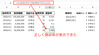 実務で使えるExcel入門セミナー  VLOOKUP関数を使って減価償却資産の償却率を表示させる方法です